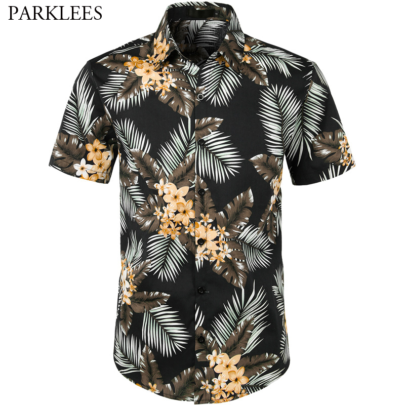 online store detailed pictures skilful manufacture US $11.97 53% OFF|Palm Tree Hawaii Shirt Men 2019 Summer Brand Mens Floral  Print Beach Hawaiian Shirts Short Sleeve Mens Dress Shirts Plus Size-in ...