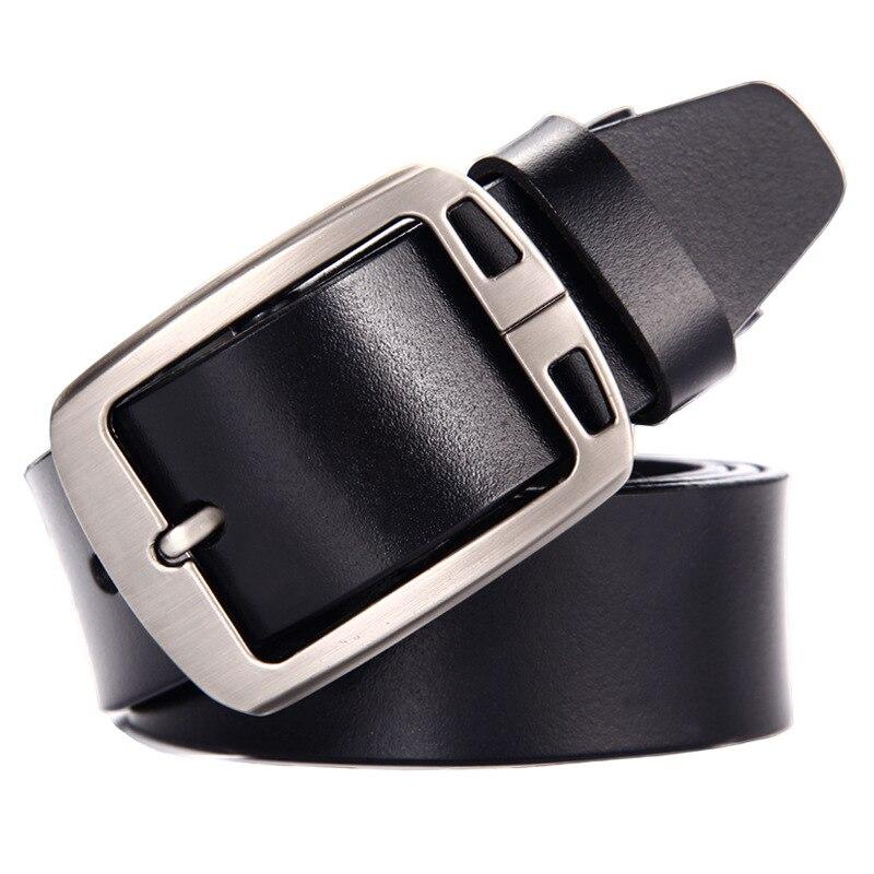 2019 correa de los hombres de vaca de cuero genuino de lujo Correa hombre cinturones para hombres nuevos de moda camisa classice vintage pin hebilla NX1688-26-1