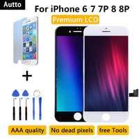 Calidad AAA para iPhone 7 LCD asamblea de pantalla de iPhone 6 iPhone 6 Plus 8G/8/ pantalla táctil 3D sin píxeles muertos