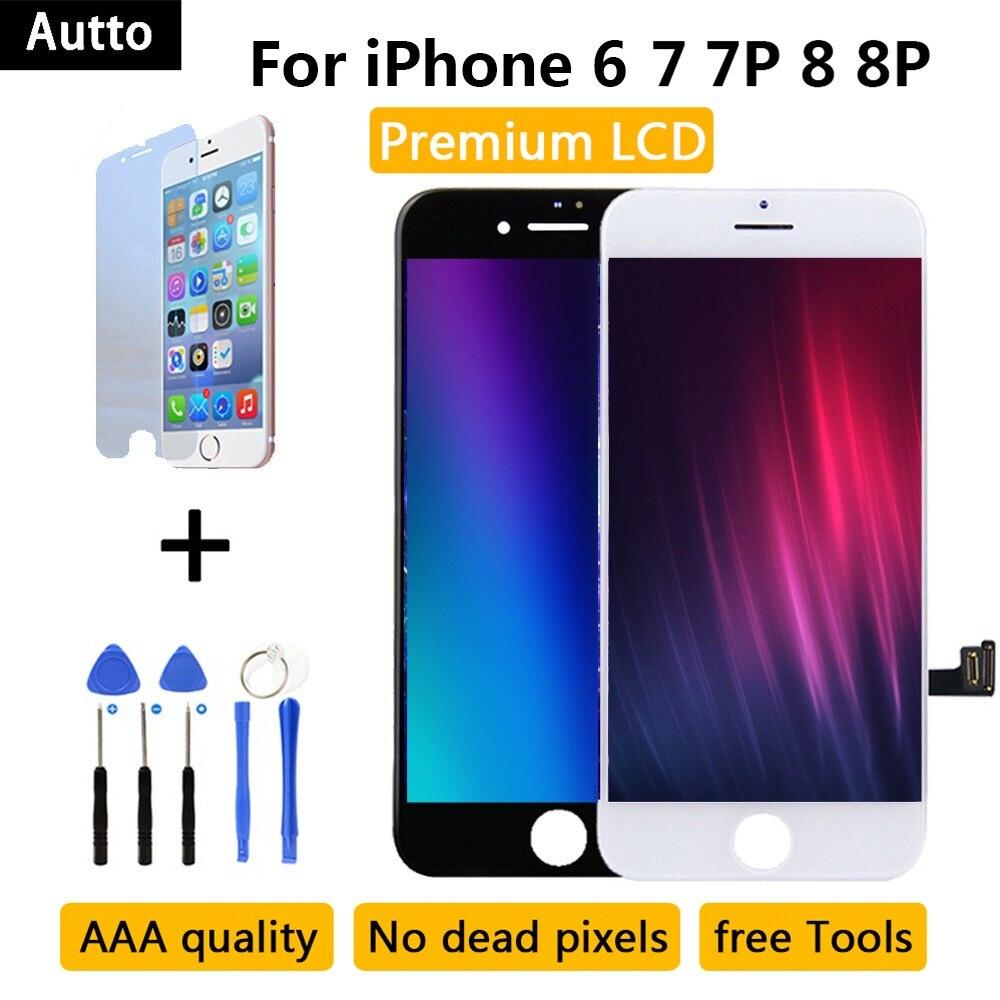 Qualidade AAA Para iPhone 7 LCD substituição Assembly para pantalla iPhone 6 7 Plus 8G/8 plus/ display touch screen 3D Nenhum Pixel Morto