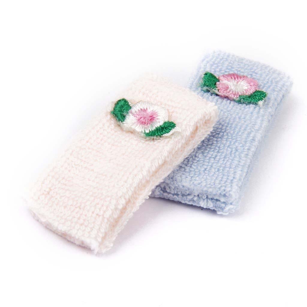 New 1 12 Bath towel font b Doll b font house Miniature Towels 2 Pieces Pink