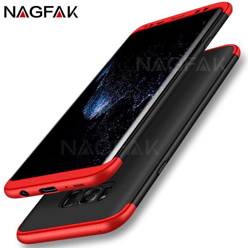 NAGFAK Luxus schutz phone Cases für Samsung Galaxy S8 fall 360 grad plastik hülle für Samsung galaxy S8 plus