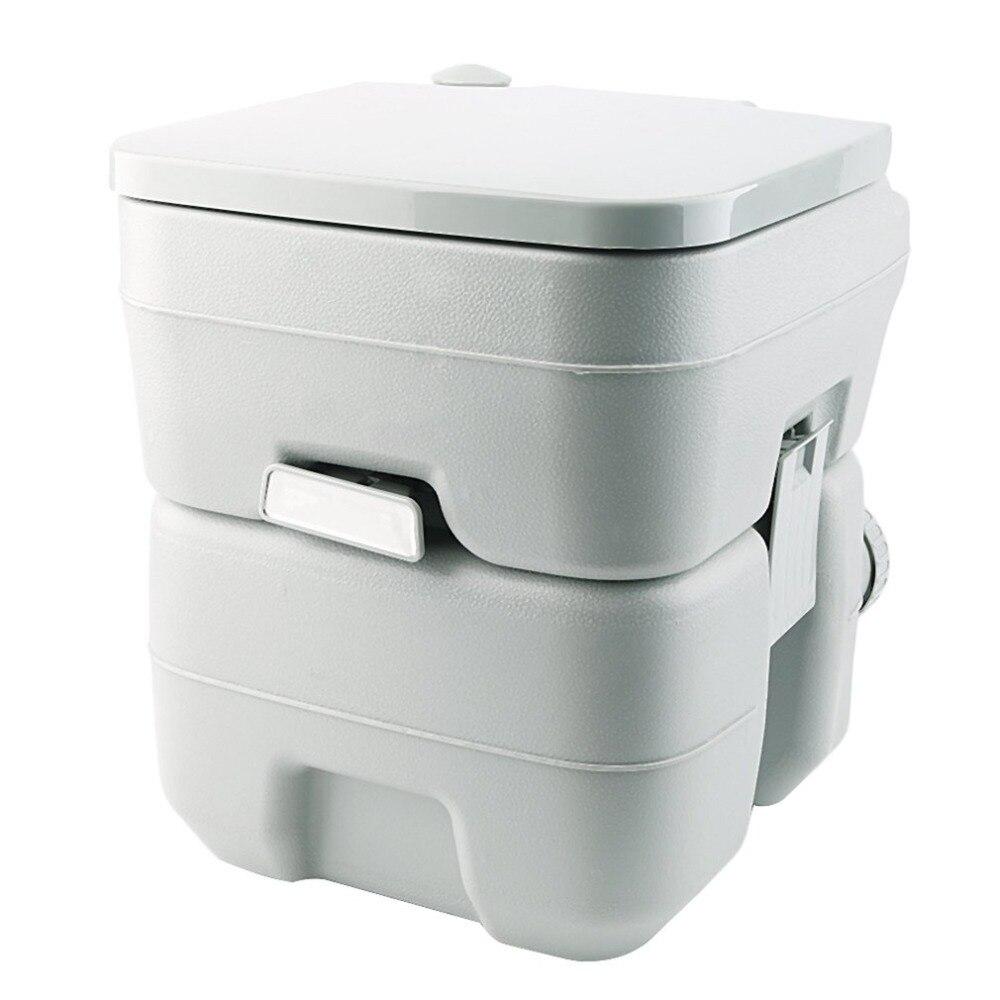 20L Portable Camping Toilettes Toilettes Caravane Chasse Voyage Intérieur En Plein Air Randonnée Nautisme Pot Commode Toilettes Amovible