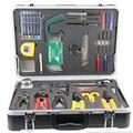 26 unids cable de fibra óptica FTTH construcción caja de herramientas KF-6300A comunicación de fibra óptica de calor de soldadura versátil kit de construcción