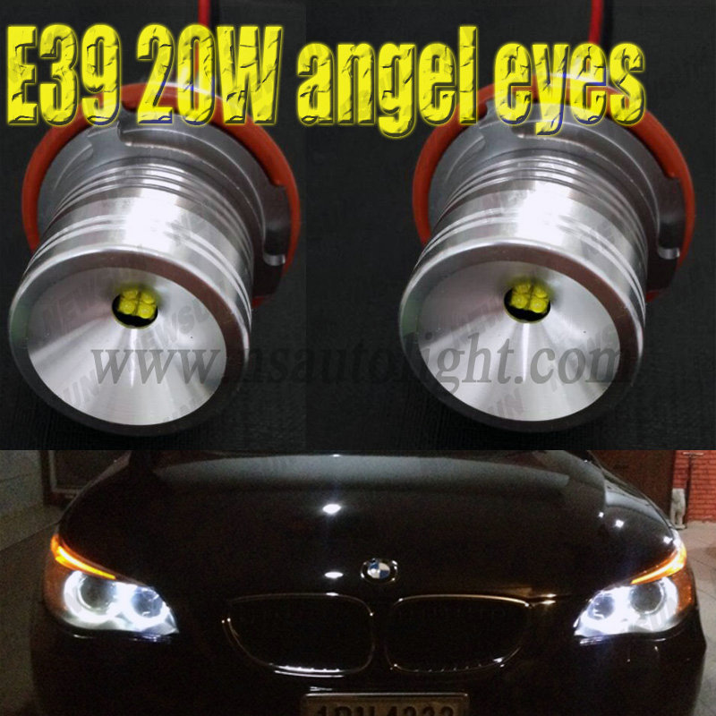 One pair 2*20W 40W CREE chips LED Marker Angel Eyes for B.M.W E39 E53 E60 E63 E64 E65 E66 E83 5 6 7 Series angel eye Led