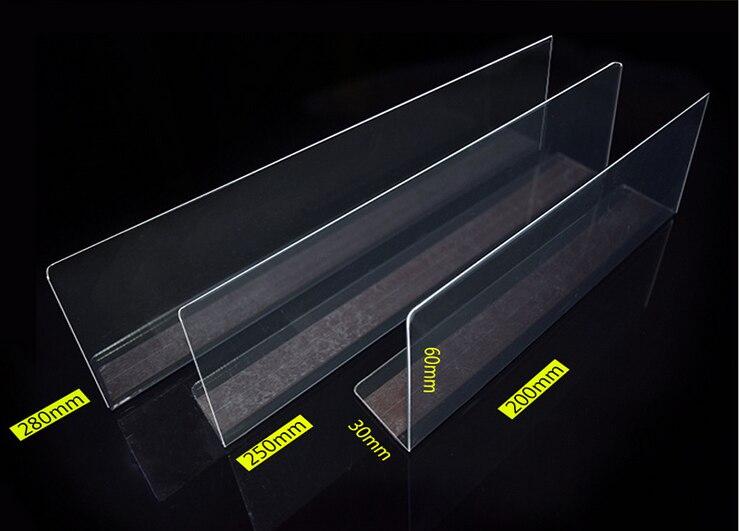 Free Shipping 100pcs magnet supermarket goods classification bezel shelf divider plastic Cigarrette Drinks Tobacco pushers