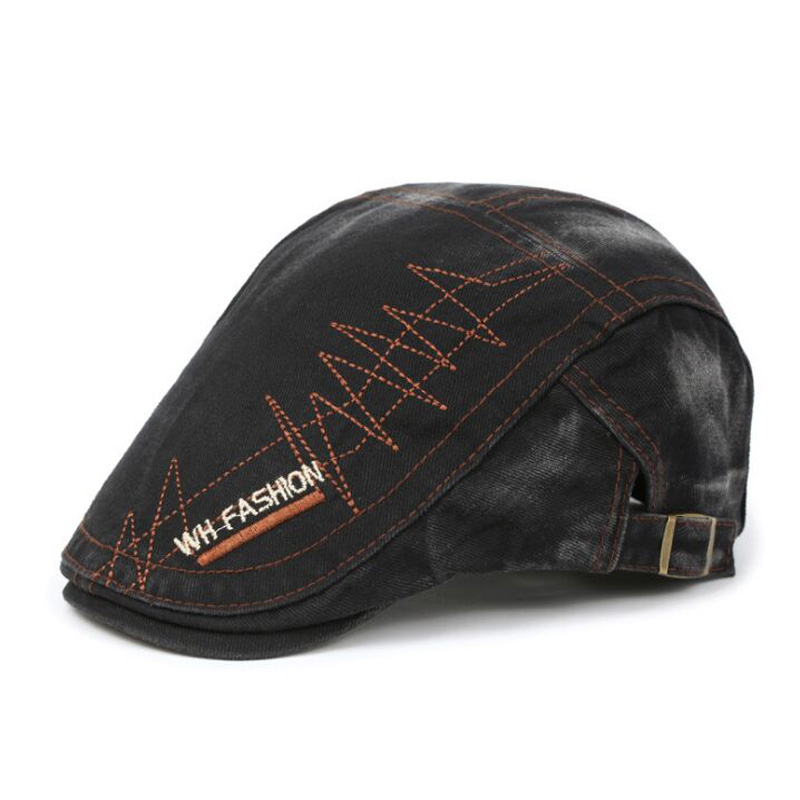 Defect Baseball Cap Mens Washed Retro Cap Spring Fashion Embroidered Beret