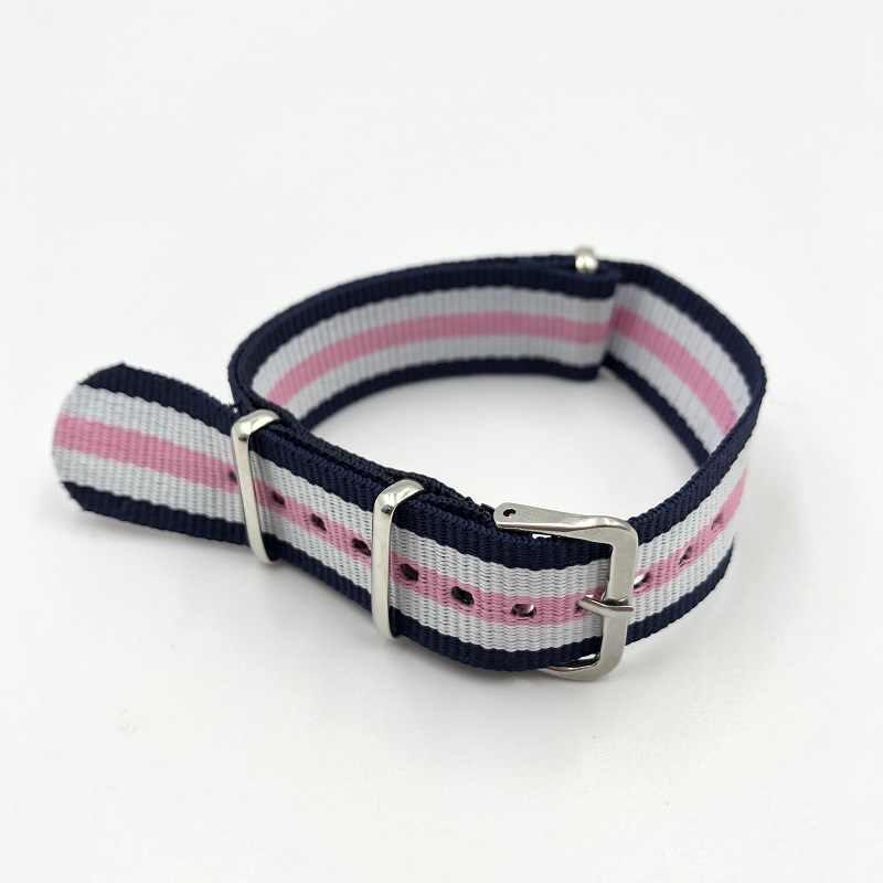 Fabric-like Strap 20mm Nato Strap Heat Dissipation Nylon Watch Strap High Quality Watchban Steel Buckle For iwatch 4/3/2/1