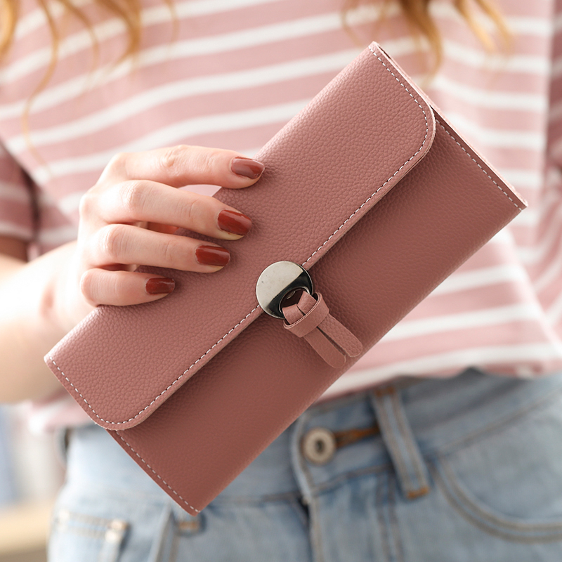 2017 new women's purse long version of Korean edition student card bag mobile phone bag free purse small fresh and simple soft t fundamentals of physics extended 9th edition international student version with wileyplus set