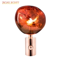 Modern Italy Melt Glass Table Lamps Living Room Bedroom Bedside Modern Lamps Warm Led Wedding Lava Lamp Decor Lights Fixtures