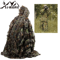 Camouflage Hunting Sniper Clothes Woodland Ghillie Suit multicam uniform Airsoft Secretive Camo Hunting Netting Cover