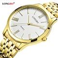 LONGBO Quartz Watch lovers Watches Women Men Couple Analog Watches Steel Wristwatches Fashion Casual Watches Gold 1/pcs 80265