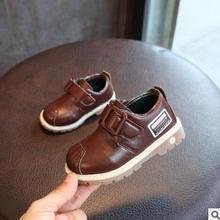 2018 Criança Meninos Sapatos de Desempenho Sapatos de Couro Fundo Macio Primavera botas Curtas Martin Botas de Estilo Inglês Cavalheiro Do Bebê Sapatas Dos Miúdos