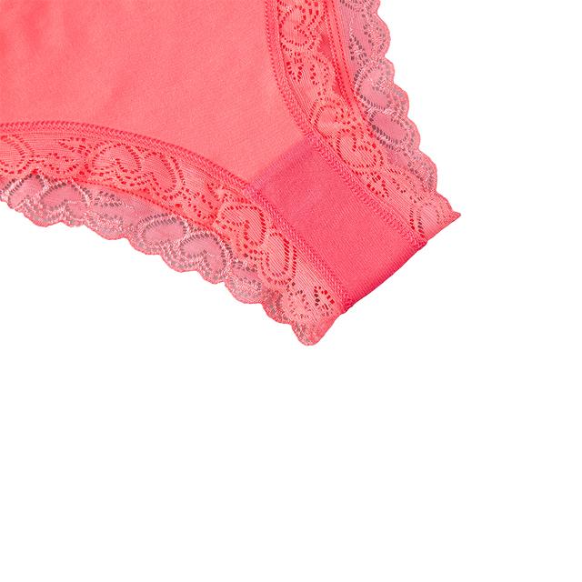 Women's Sexy Laced Cotton Briefs Solid Low Rise 6 Pcs/set