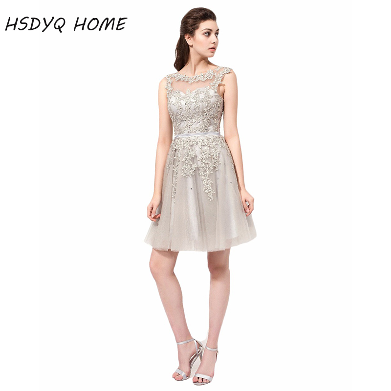 HSDYQ HOME Summer Short Bridesmaid Dresses Appliques beading Party Gowns Formal Wedding Prom Dresses