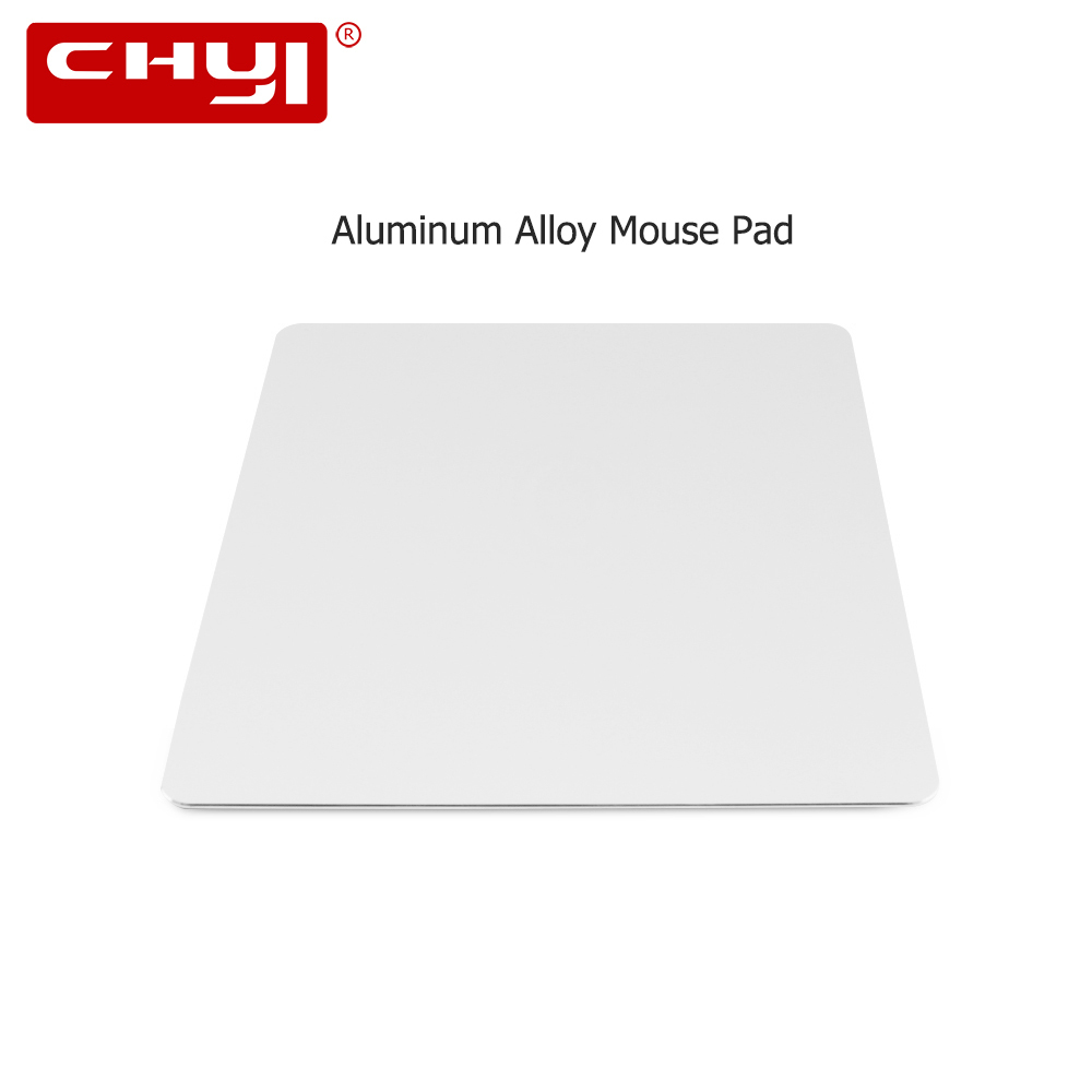 CHYI Aluminum Alloy Metal Slim Game Mouse Pad Gamer PC Computer Laptop Gaming <font><b>Mousepad</b></font> for Apple MacBook Pro Magic <font><b>Xiaomi</b></font> Mice image