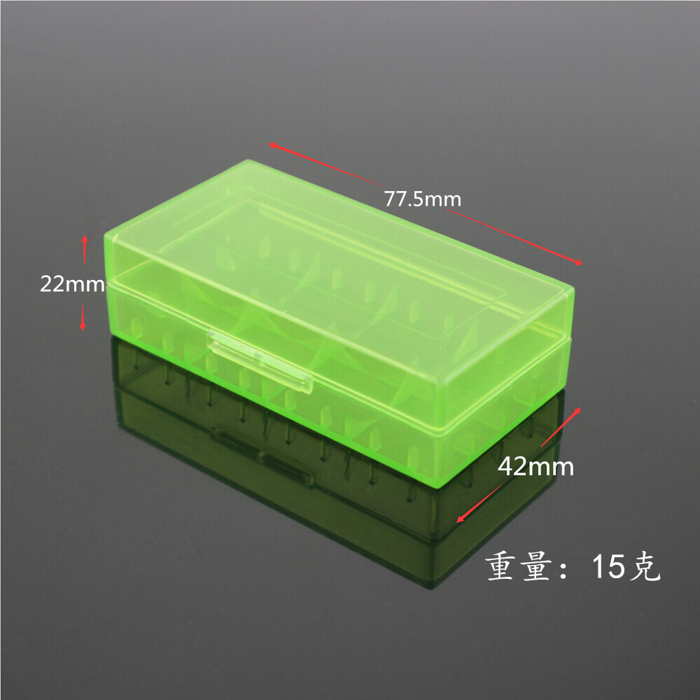 4PCS New Hard Plastic <font><b>Battery</b></font> Protective Storage Boxes <font><b>Cases</b></font> Holder For 18650 18350 CR123A 17670 <font><b>18500</b></font> <font><b>Battery</b></font> free shipping image
