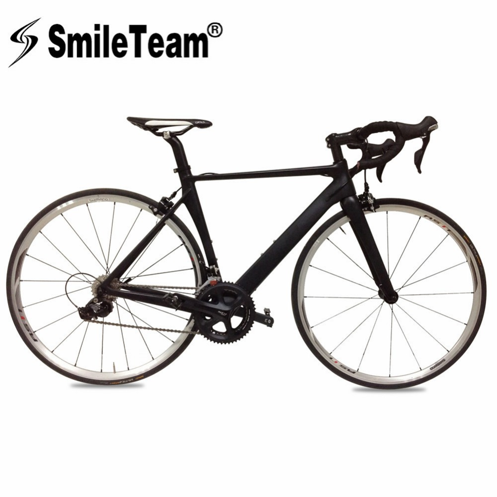 SmileTeam 700C Carbon Fiber Road Bike 105 Groupset 22 font b Speed b font Complete Carbon