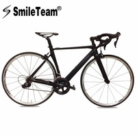 SmileTeam 700C Complete Road Bike Carbon Bicycles Carbon Road Frame With Aluminum Alloy Wheel 105 Groupset