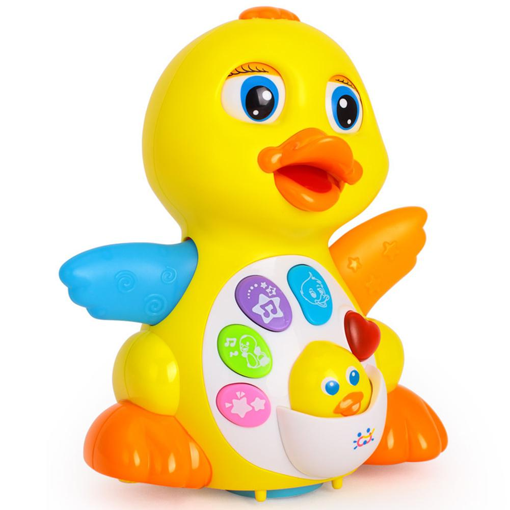 LeadingStar EQ Flapping Yellow Duck Electrical Universal Toy Musical Toy Educational Sound Toy for Infant Brinquedos Kids