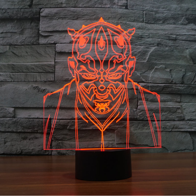 3D Star Wars Jedi Order Led Lights USB charge 7 Colors Changing Night Light Childrens Room Promotional Gifts