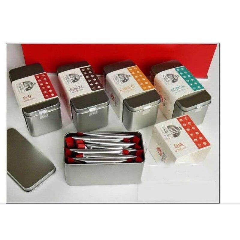 130x85x56mm prostokąt puszka do herbaty ból pudełko z cyny do 100 125g herbaty pakowanie żywności cyna może do przechowywania herbaty w Skrzynki i pojemniki od Dom i ogród na  Grupa 1
