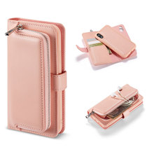 Multifunction Zipper Wallet Flip Leather Cover For IPhone XR XS MAX Case Magnetic Detachable Closure for 6 7 8