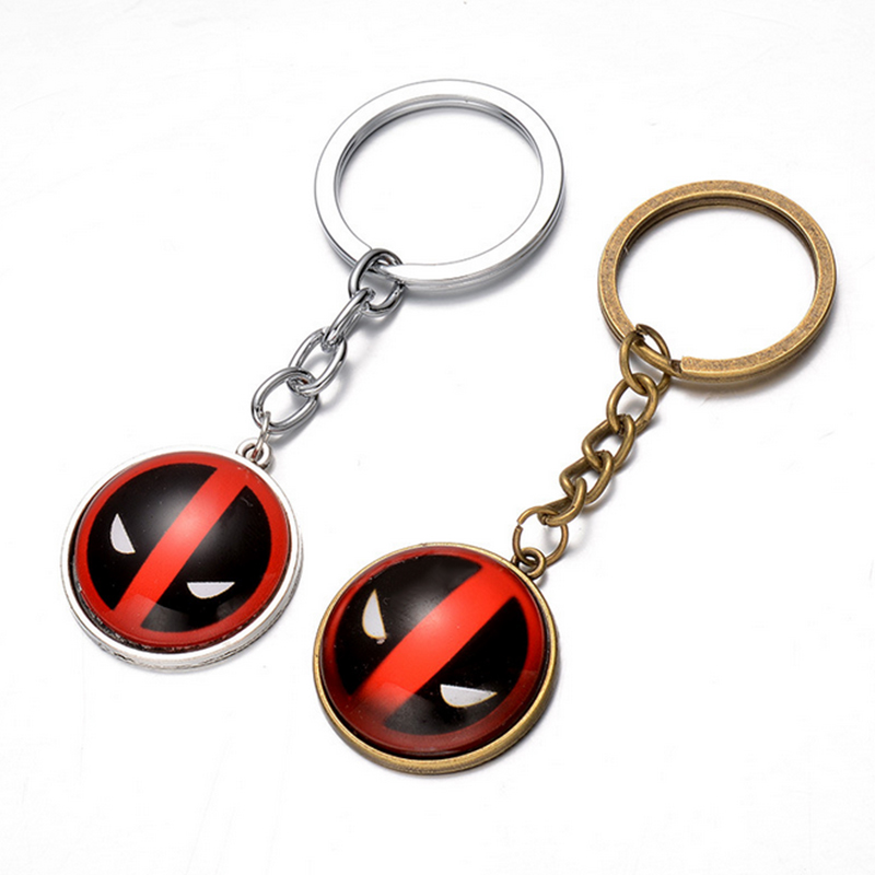 цена Hot Marvel Hero X-Men Deadpool Pendant Key Chain Ring Holder Trinket 2 colors Metal Keychain Cosplay Jewelry free shipping