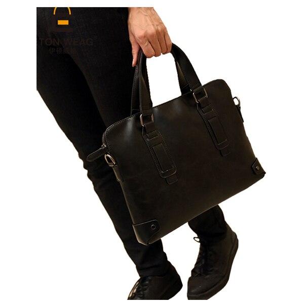 ETONWEAG Искусственная кожа мужская деловая Повседневная Сумка/портфель 34*27*6 см