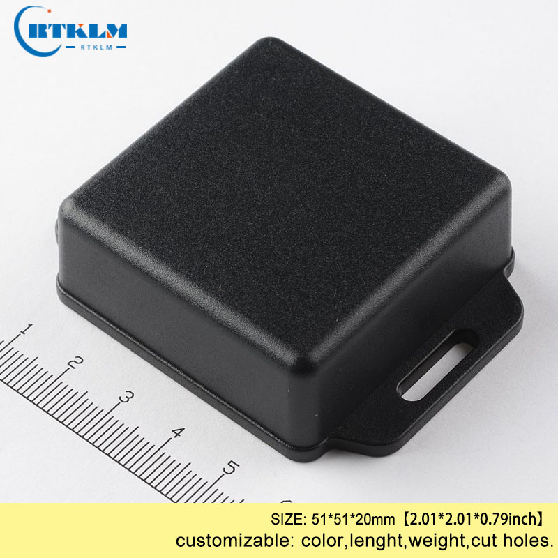 Plasitc enclosure 51*51*20mm injected junction box IP54 ABS wall mounting project box for electronic device box black diy box image
