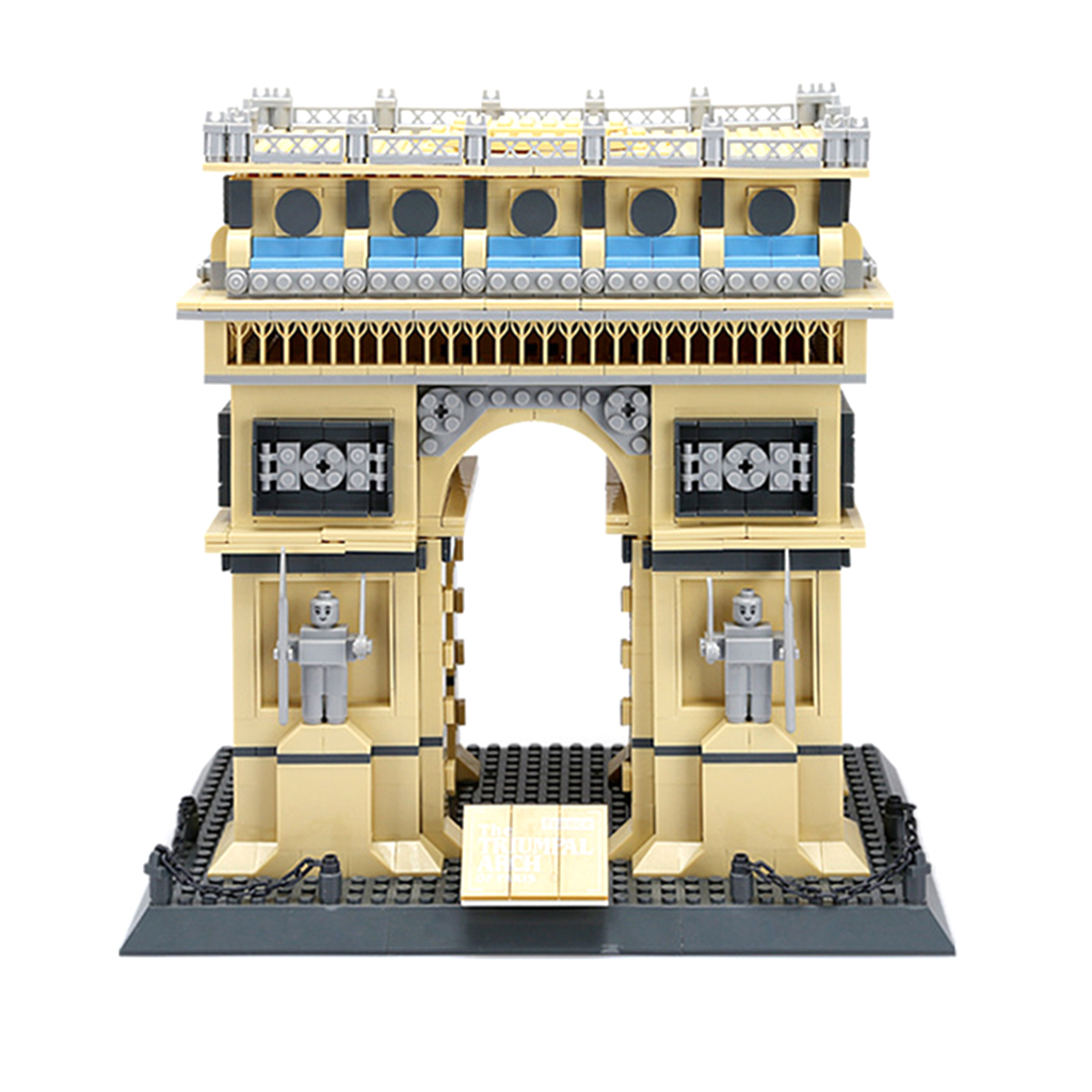 1401 Pieces Plastic France Paris Triumphal Arch Building Blocks 3D Jigsaw Puzzle Child Intelligence Game Toy ball finding game ru bun lock children puzzle toy building blocks