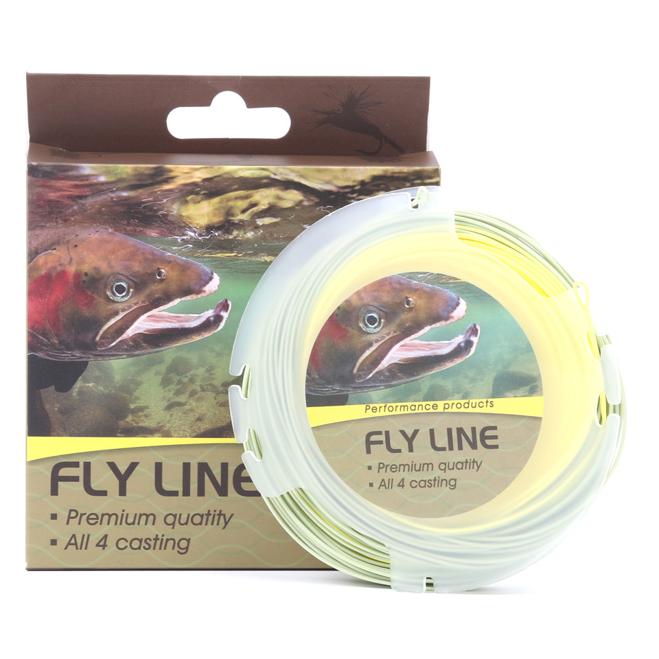 Maximumcatch 100FT 3-8WT Fly Fishing Line Double Color Weight Forward Floating Fly Line With Two Welded Loops Fishing Line