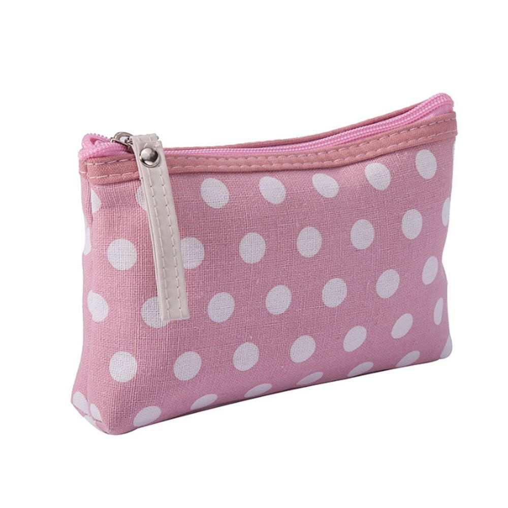 Pouch Cosmetic-Case Makeup-Bag Toiletry Wash-Purse Round-Point Zipper Women Fashion Gift