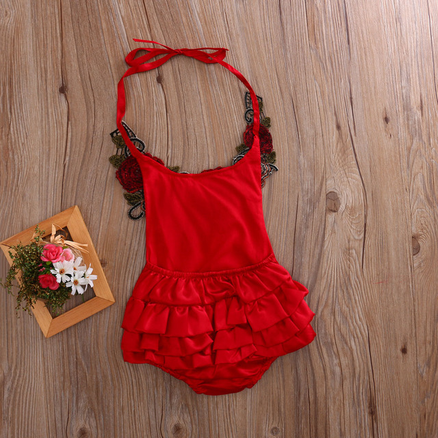 0-3Y Newborn Baby Girls Romper Sleeveless 3D Floral Romper Belt Jumpsuit Outfits Sunsuit  Cotton Outfits Boutique Clothing Set