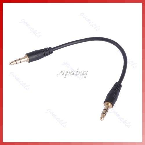1 Pc 3,5mm Stecker Auf Stecker Stereo Jack Kopfhörer Audio Blei Kabel Draht Schwarz Nov01 Drop Schiff Digital Kabel
