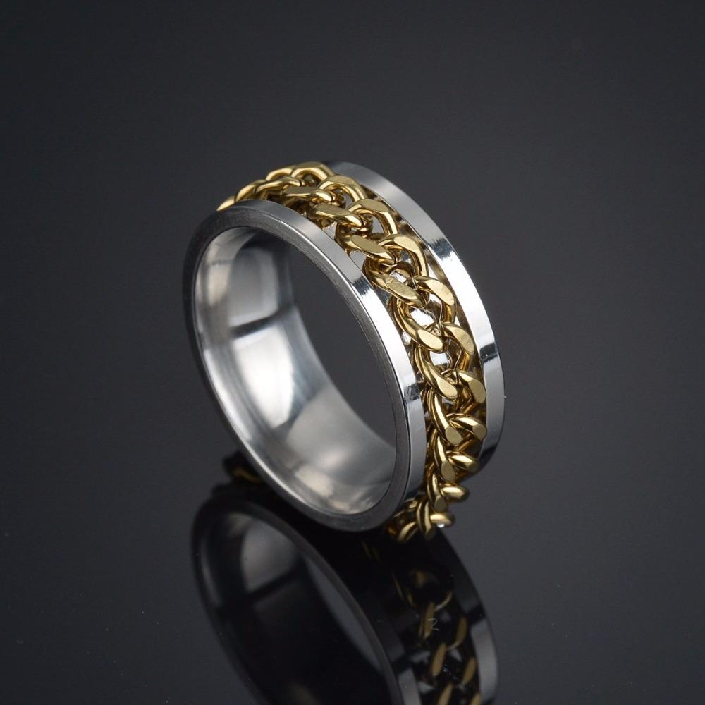 Мужское кольцо Спиннер memolissa из нержавеющей стали