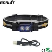 BORUiT 1000LM XP G2 LED reflektor USB ładowarka 18650 reflektor na baterie 4 tryb czołówka wodoodporna Camping latarka myśliwska w Latarki czołówki od Lampy i oświetlenie na