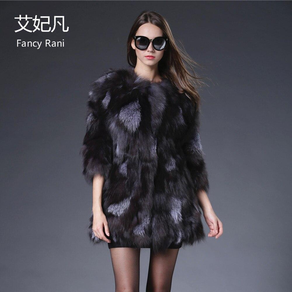 Módní luxusní originální bunda z kožešinového kabátu, dámská zbrusu nová bunda pro skutečnou kožešinu Fox