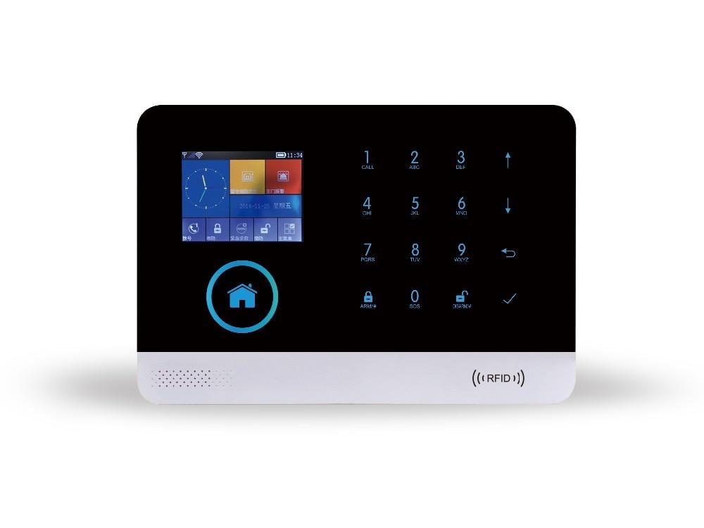 2.4 Inch GSM/WIFI/GPRS/3G Burglar Alarm System App Remote Control arduino atmega328p gboard 800 direct factory gsm gprs sim800 quad band development board 7v 23v with gsm gprs bt module