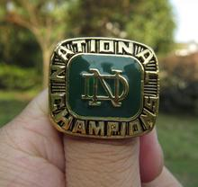 Alta calidad de la NCAA 1977 Notre Dame campeonato anillo sólido de souvenirs hombres regalo de navidad envío gratis