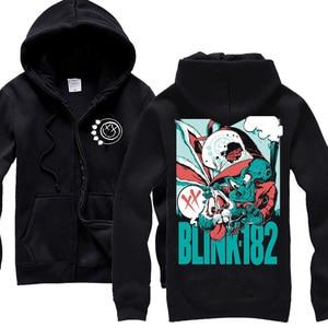 Image 4 - 13 design blink 182 Sweatshirt Cute Rabbit illustration clothing hoodies punk heavy metal Rock sudadera tracksuit skateboard