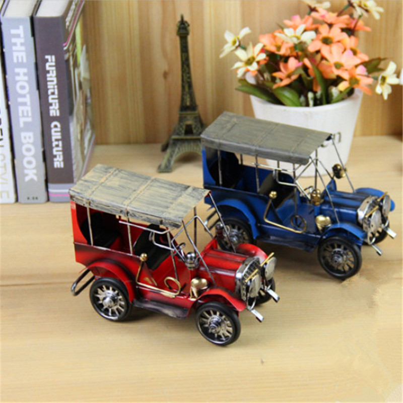 Vintage Home Decor Retro Cars Cast Iron Toy Car Styling Ford Antique Car Models For