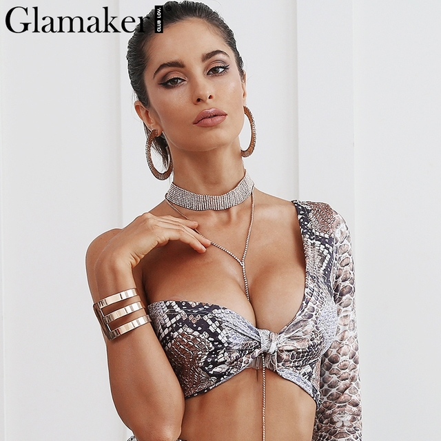 Glamaker Sexy party choker necklace Luxurious chain pendant necklace accessories Club glossy rhinestone necklace bijoux headwear