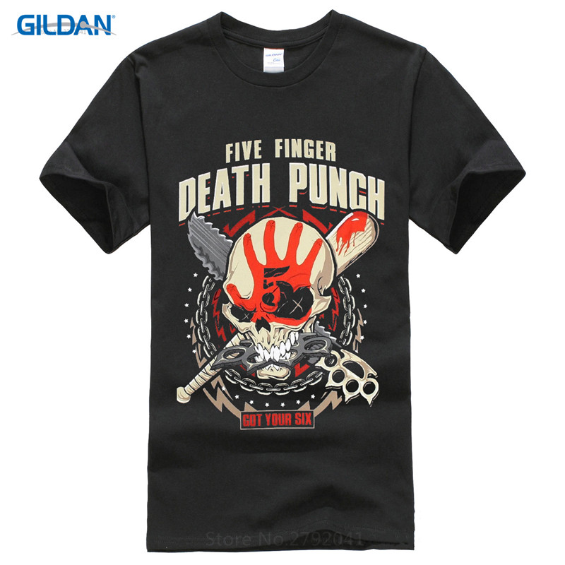 Funny Casual Brand Shirts Top Men 39 S Five Finger Death Punch Zombie Kill Printed O Neck Short Sleeve Tee in T Shirts from Men 39 s Clothing