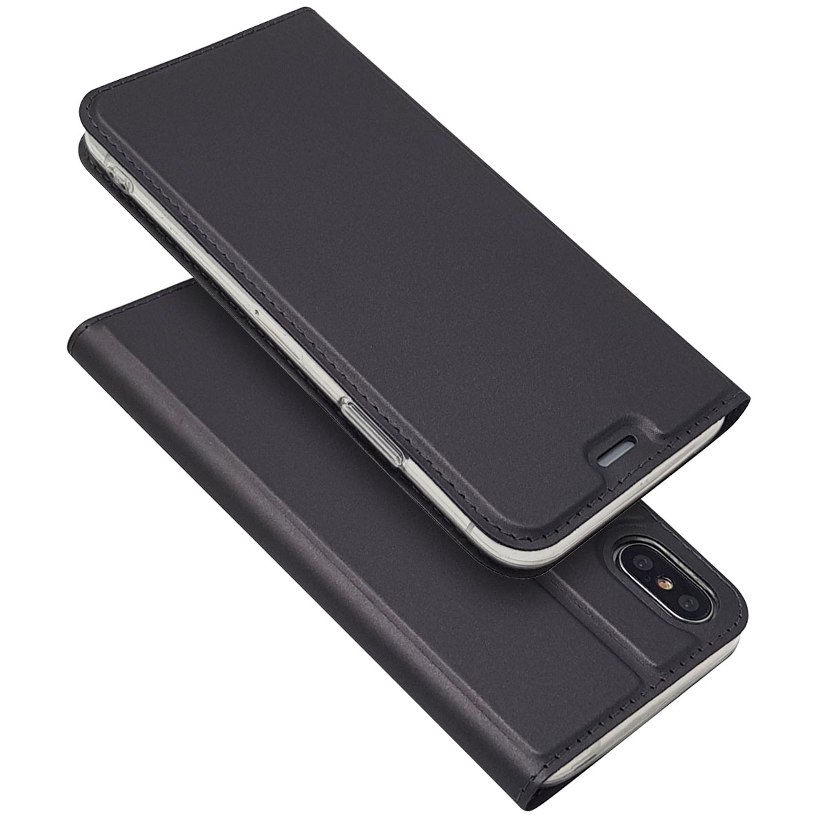 buy popular f3060 e6a5d US $6.77 39% OFF|Ultra Slim Magnetic Case for IPhone 5S SE 6S 7 8 Plus X  Leather Luxury Stand Card Case Cover for IPhone XR XS Max Flip Phone Bag-in  ...