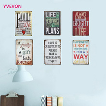 New Sign Vintage Letter Metal Decor Wall Plaque Tin Language Plate English Retro poster home shop display 20x30cm