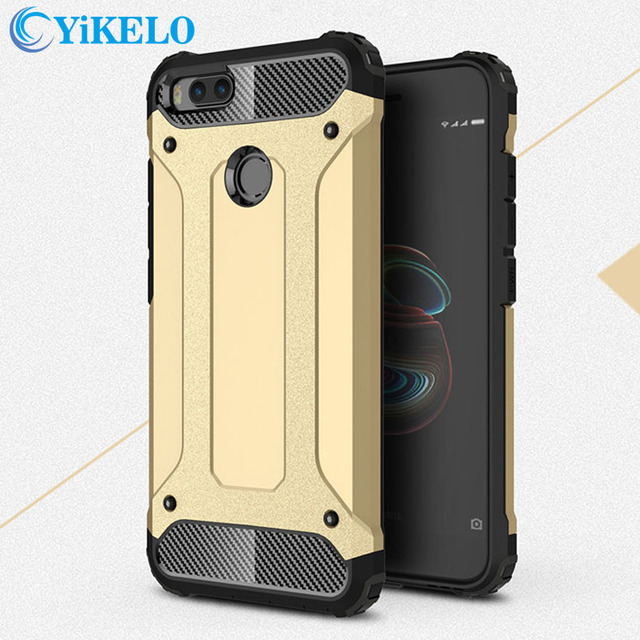 promo code 74c0a 54839 US $3.64  YiKELO For Xiaomi Mi 5X Case Hard Rugged Case For Xiaomi A1  Hybrid Armor Phone Case Double Protect Slim Hybrid Cover 5x A1-in Fitted  Cases ...