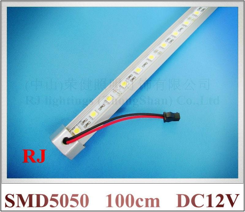 LED rigid strip LED light bar SMD 5050 LED counter light LED barlight 100cm 72 led / pcs DC12V Fedex free shipping
