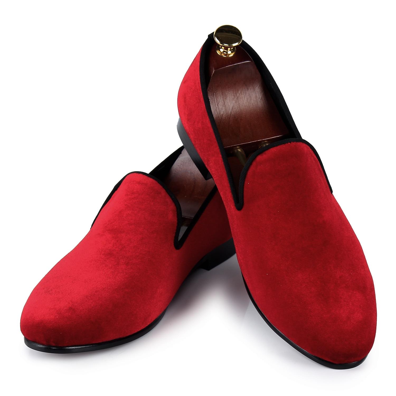 Des Mocassins Taille Plaine 14 Chaussures Confortable Design Rouge Plates Velours Glissement Pour Sur Hommes Italie 7 Us TFlK1cJ