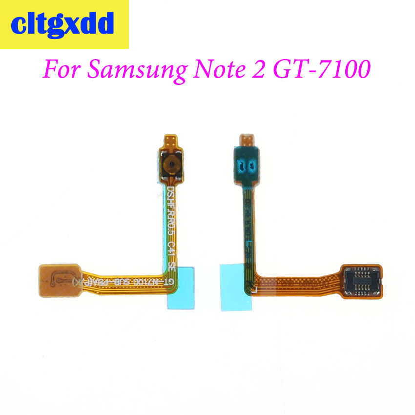 cltgxdd Power Button On / Off Switch Flex Cable For <font><b>Samsung</b></font> Galaxy Note 2 N7105 GT-N7100 I317 T889 I605 L900 R950 <font><b>E250</b></font> image